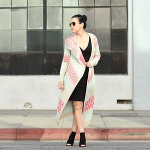 FRANCESCA'S Long Duster Sweater Cardigan Small